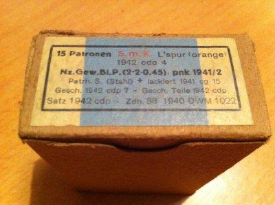 boite et balles d'origine 1941 mauser ?