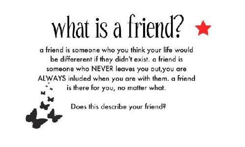 Qu'est-ce qu'un ami ?