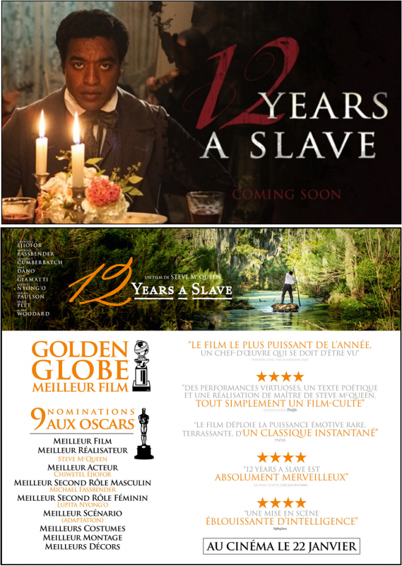 CINEMA/CULTURE : 12 Years a Slave : Un film Excellent, Salutaire, Sadique et Déroutant