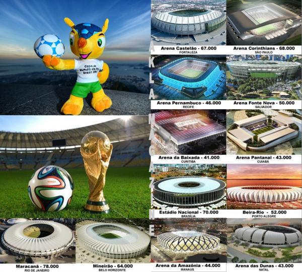 SPORT/FOOTBALL : Coupe du Monde 2014 - En route pour le Brésil