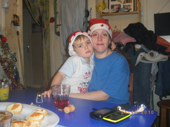 Mon fils et moi pour la veille de noel