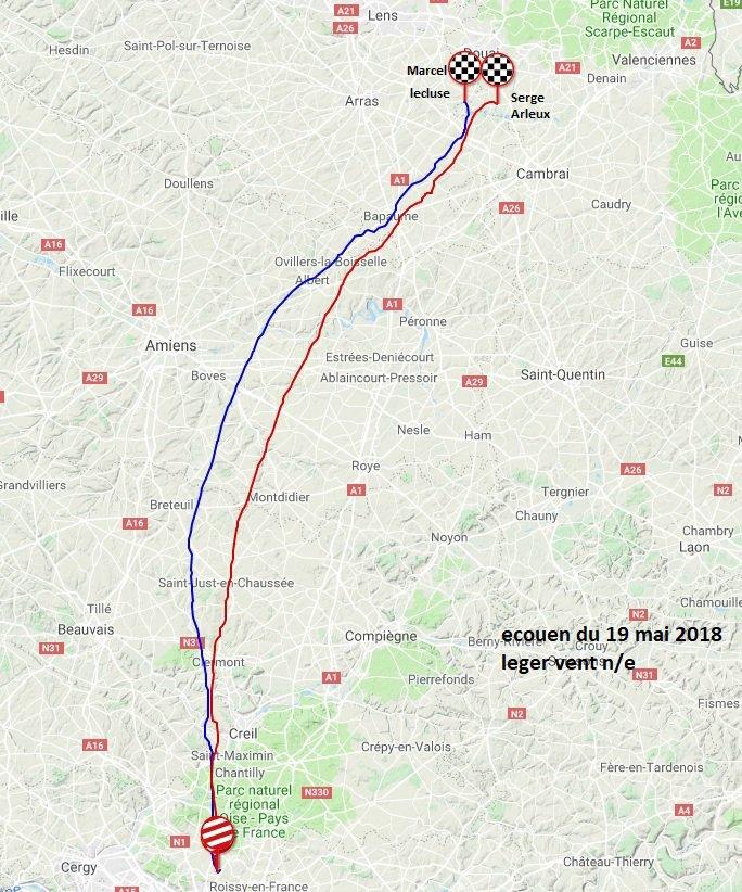 Traceur sur Ecouen du 19 mai Gprt Douai