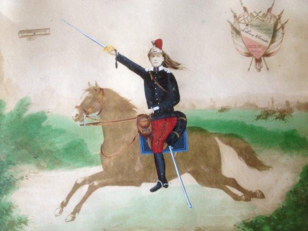 Alexandre Lehoux incrusté dans une photo de cheval