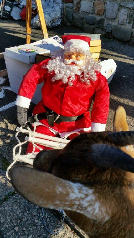 L'on a trouvé un père Noël à un vide grenier.