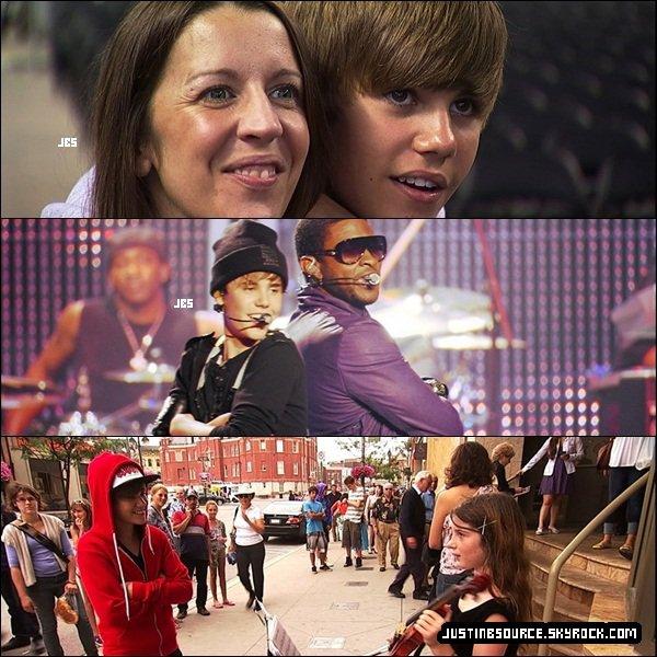 """Pour vos yeux les amis XD Des nouvelles photos de the Movie """"Never Say Never ; Justin BIEBER"""" :D Tu l'as vu ? Tu as aimer ou pas ? :) Moi je les vu et il est trop trop bien :D *_* ♥"""