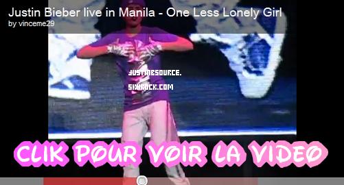 Never Say Never: Ticket Violet + Vidéos: Concert à Manille + Justin dans America's Best Dance Crew