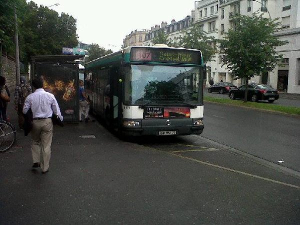 la 8171 de la 108/110 sur le 107 l'une des rares agora line irisbus renault vf