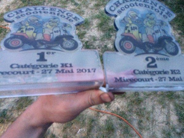 premiere course du championnat d europe de vespa !!!