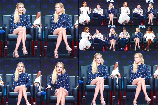 - '-03/08/18-' ◘Emma était présente à la conférence de presse d'AHS Apocalypse durant les TCA SUMMER 18'. En effet la blonde était présente durant le Press Tour qui se déroulait à l'hôtel The Beverly Hilton. Je trouve Emma absolument parfaite. -