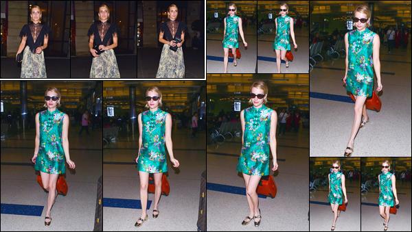 - '-03/07/18-' ◘Emma Roberts a été aperçue alors qu'elle venait de quitter le dîner organisé par « Dior », Paris. Plus tard, c'est quittant l'aéroport « LAX » que nous retrouvons notre actrice, valise à la main. Deux tenues assez originales et deux flops ! -