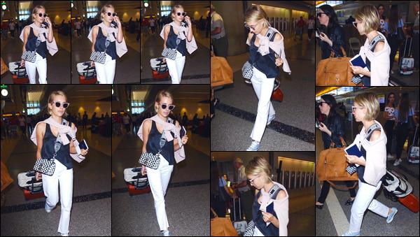 - '-27/06/18-' ◘Emma Roberts a été vue alors qu'elle venait d'arriver à l'aéroport « LAX » situé à Los Angeles. C'est pour prendre son envole pour notre pays qu'est la France que nous retrouvons notre belle actrice, lunettes de soleil sur le nez, bof. -