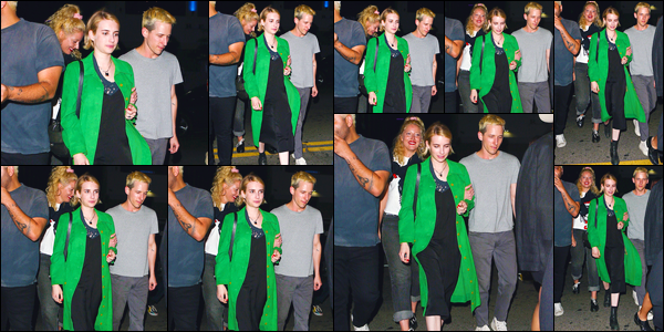 - '-14/06/18-' ◘Emma Roberts a été photographiée lorsqu'elle se trouvait dans les célèbres rues de Los Angeles. C'est ainsi dans la soirée après avoir été dans une pizzeria ainsi qu'un bar que nous retrouvons notre ravissante Emma à qui j'offre un bof. -