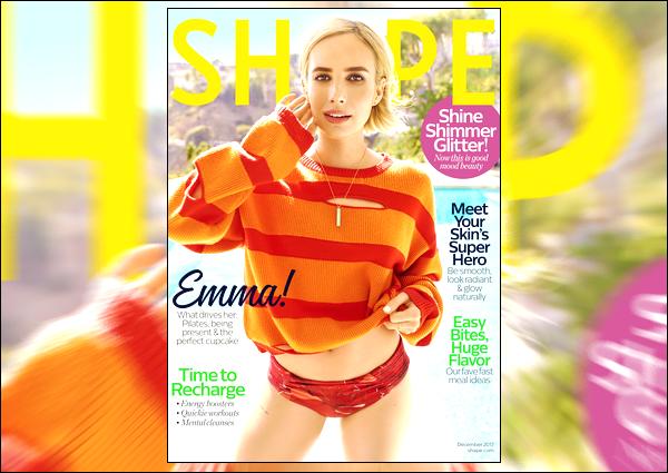 ▬Emma Robertsfera la couverture du célèbre magazine Shape US, au mois de décembre !