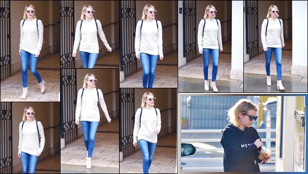 - '-09/01/18-' ◘Notre belle blonde a été aperçue lorsqu'elle quittait le magasin Ralph Lauren à Beverly Hills, CA. Deux jours après avant lesThe 23rd Annual Critics Choice Awards, Emma a été vue alors qu'elle se baladait dans les rues de Beverly Hills. -