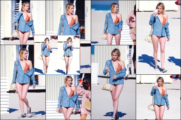 - '-13/12/17-' ◘Après son passage à Toronto voici que la belle se trouve à Miami, où elle a été vue sur la plage. Le même jour notre superbe blondinette a été photographiée alors qu'elle quittait une fête ayant eu lieu sur une plage de Miami. TOP ! -