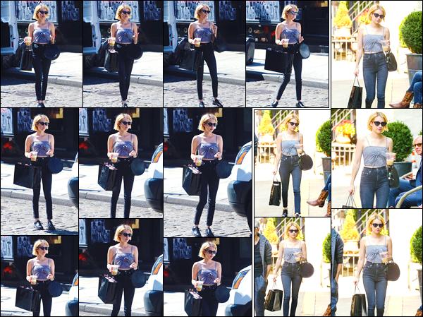 - '-11/09/17-' ◘Notre jolie blonde a été photographiée lorsqu'elle quittait un magasin de lingerie, à Soho - NY. Par la suite elle a de nouveau été photographiée, cette fois-ci alors qu'elle se baladait dans les rues de New-York City. J'accorde un top. -