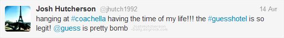 ...14 . 04...  Josh au festival de musique Coachella   ...2 0 1 2...  • Il était invité à la fête organisée par Smoke & Mirrors à la Quinta Resort.