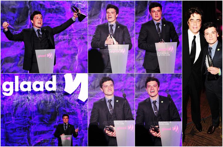 ...21 . 04...  J-Hutch aux Gay & Lesbian Alliance Against Defamation Media Awards 2012   ...2 0 1 2...  • Il fut présent à la 23ème cérémonie des GLAAD, qui l'a récompensé du prix Van Guard pour son engagement                           dans la campagne Straight But Not Narrow. Cela nous prouve encore une fois que Josh a un grand coeur !