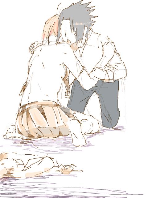 """"""" Ouais. C'est ca mon vieux, Sakura est revenue. """" Itachi. U"""