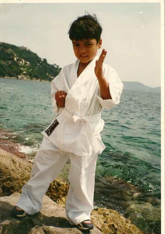 mon mari petit qui fait du karate