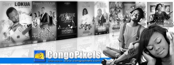 CongoPixels font la promotion des artistes Chrétiennes comme Frère Réné LOKUA, Frère FRANCK MULAJA & Echo d'Adoration, Frère Mercisse ELONGA, Fr Michaux LUKUSA et bien d'autres ..