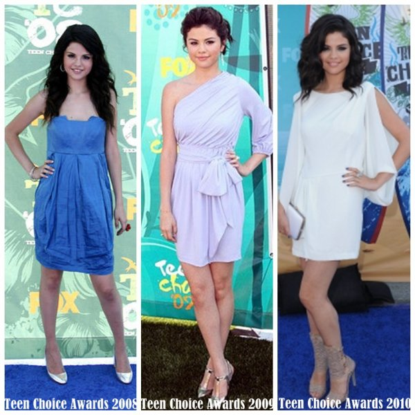 Vous préférer Selena au Teen Choice Awards 2008,2009 ou 2010?