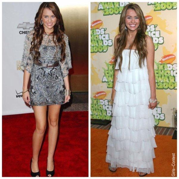 Plutôt robe longue ou courte pour Miley?