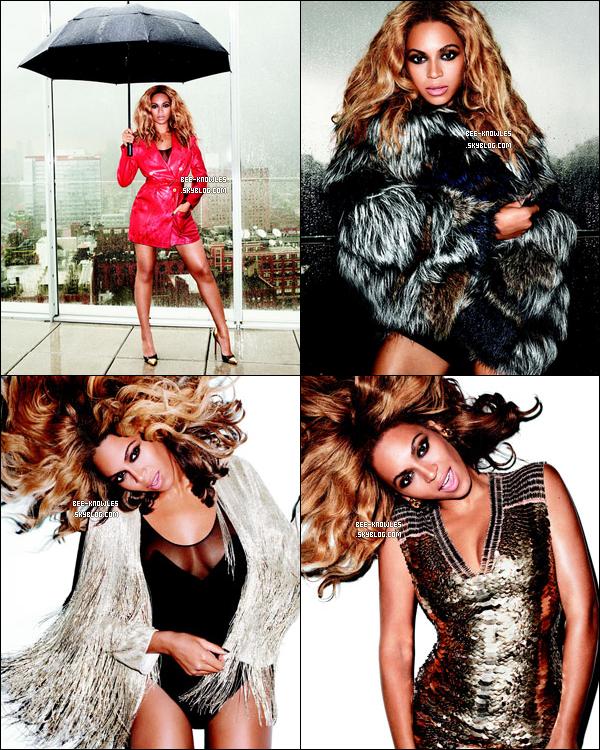 Beyoncé en couverture du magazine américain « Harper's Bazaar » de novembre.