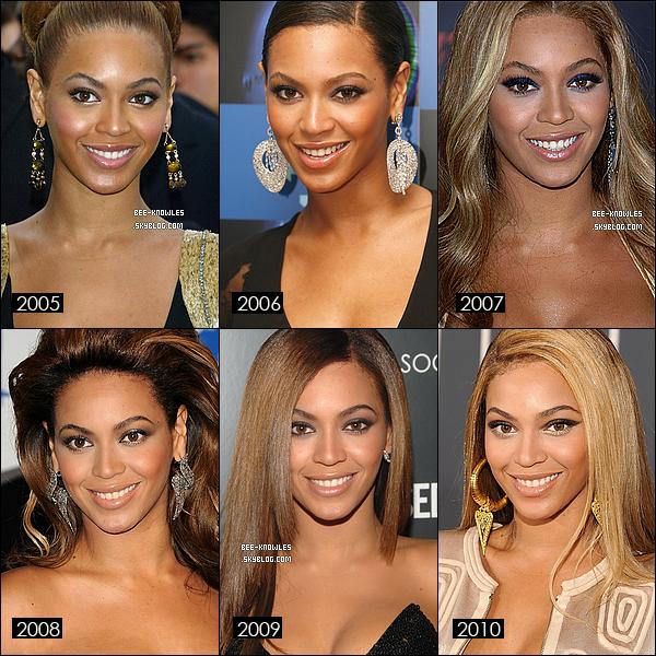 EVOLUTION FACIALE DE BEYONCE DE 1999 à 2011.Ton avis ? Dis moi tout.