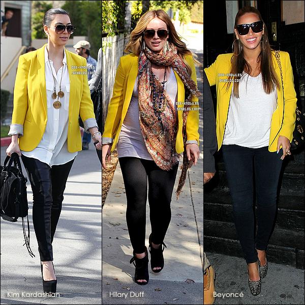 Laquelle porte le mieux ce blazer jaune Stella Mccartney (1,595 $) ?