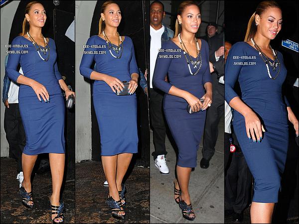 19/03/12 : Beyoncé a assisté à une reception donnée par Michelle Obama à l'hôtel Greenwhich à New York.  Cette reception avait pour but de réunir des fonds pour la campagne de réélection de Barack Obama. 19/03/12 : Le soir même, B' est allée diner au restaurant « Nobu » avec son mari Jay-Z et sa soeur Solange.