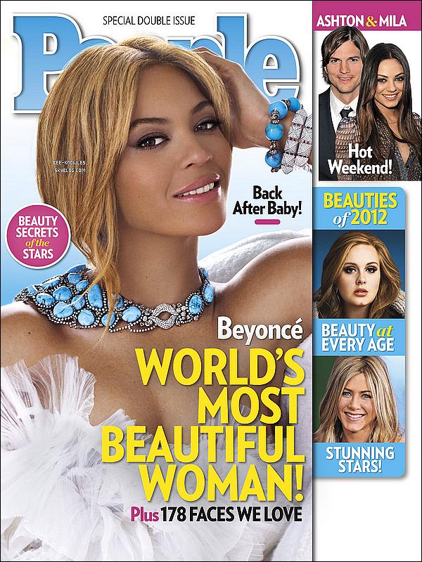 Beyoncé a posé pour le magazine « People » qui l'a élu plus belle femme du monde.