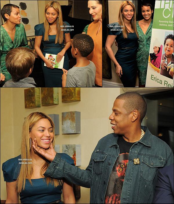 08/05/2012 : Jayoncé à une soirée privée pour le lancement du livre « The Thriving Child » écrit par Erica Reid