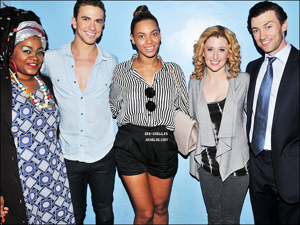 12/05/11 : Bee posant dans les coulisses avec le cast de la comédie musical « Ghost » à Browday (N-Y).   + Glee a repris « I Was Here » de Beyoncé. Cette reprise sera sur l'album « The music Glee: The Graduation Album » de Glee.