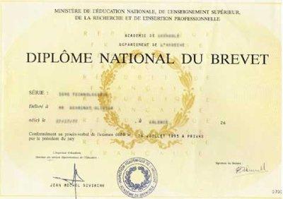 F licitation paul pour ton brevet blog de pj37 - Diplome de cuisine a imprimer ...