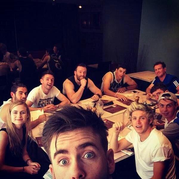 Niall a Melbourne récemment