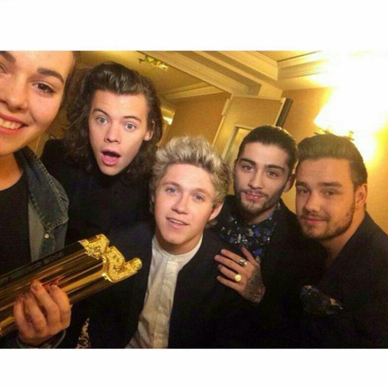 Les boys avec la meilleur fan ! :)