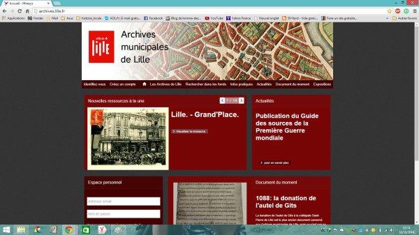 Le site internet des archives municipales de Lille est en ligne !
