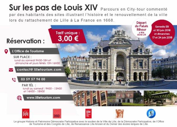 Sur les pas de Louis XIV à Lille
