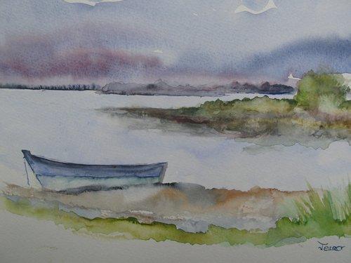 Golfe du Morbihan : Un soir, Ile Trohennec