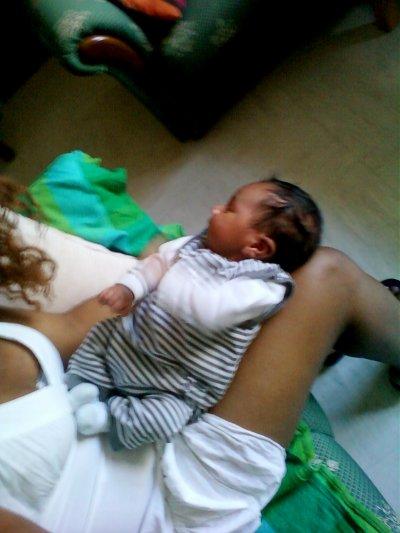 Voiila ma ptite Cindy.. son bebe (Melvin), Lina et  Moi !!  # JTM tOut simplement #