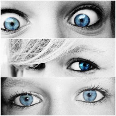 T'as les yeux bleus comme l'océan ou la Mer Méditerranée? euh, bah j'ai les yeux bleus quoi!