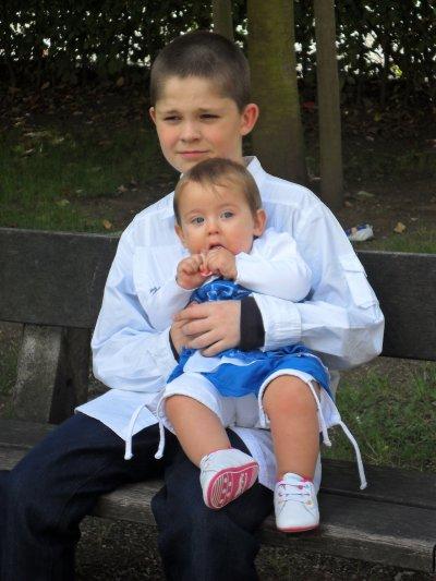 Mon neveux david avec sa cousine Zoé