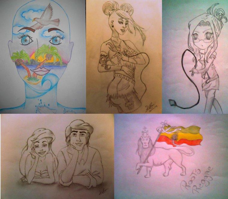 Quelques unes de mes créations .. ✎