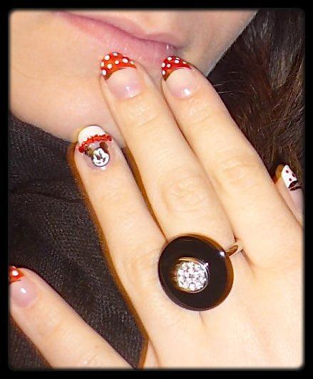 nail art rouge noir blanc mickey minnie blog de. Black Bedroom Furniture Sets. Home Design Ideas