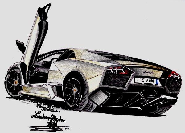 Lamborghini reventon - Dessin de lamborghini aventador ...