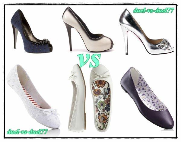 préféré vous les chaussures plat ou avec talant ?