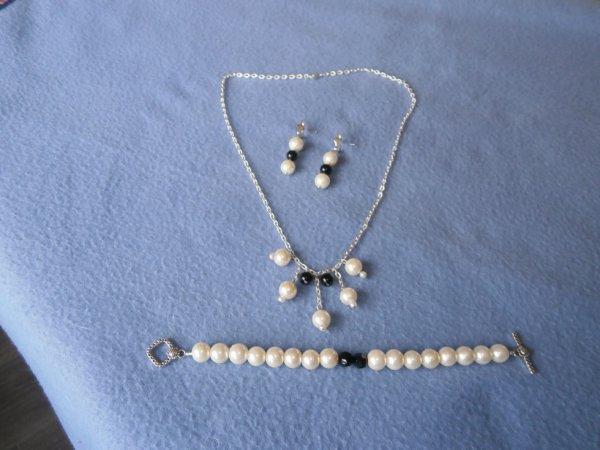 parrure  perles chaines