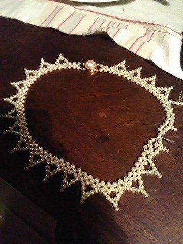 collier en perles veritables
