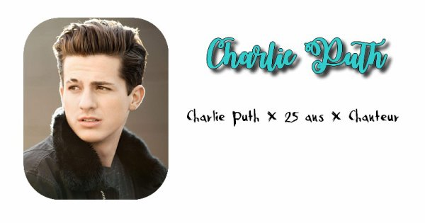 Charlie Puth.
